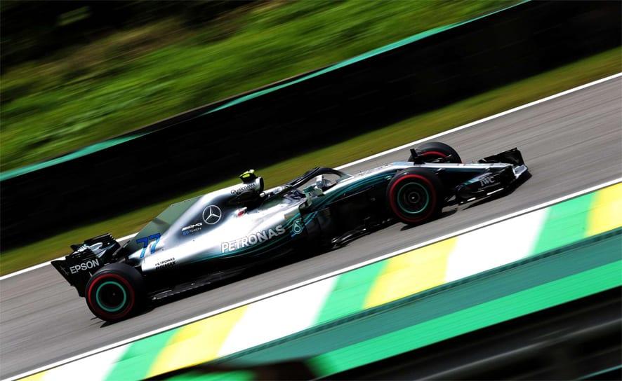 GP de Brasil 2018-Libres 2: Doblete de Mercedes con tres milésimas entre ambos