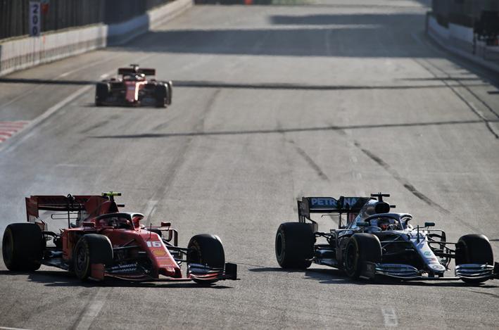 Hamilton y Leclerc. GP Azerbaiyán 2019