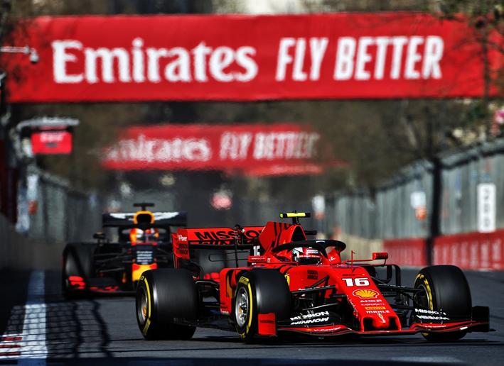 Leclerc. GP Azerbaiyán 2019