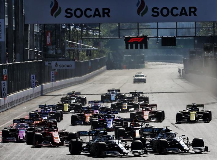 Salida GP Azerbaiyán 2019
