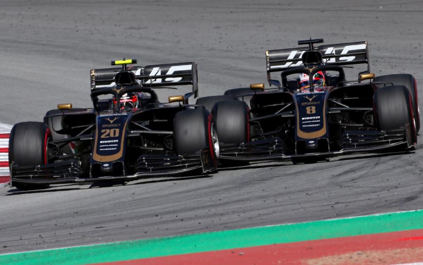 Batalla entre los Haas. GP España 2019