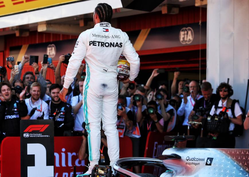 Hamilton logra la victoria. GP España 2019