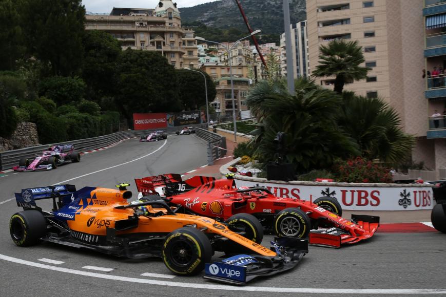 Leclerc y Norris. GP Mónaco 2019