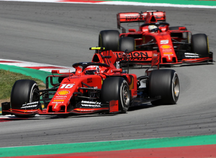 Leclerc y Vettel. GP España 2019