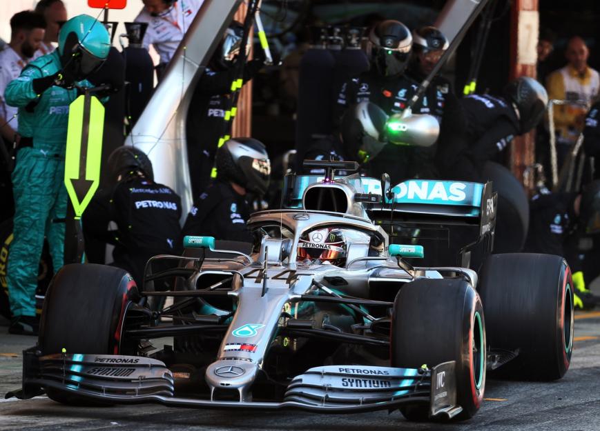 Pit Stop de Hamilton. GP España 2019