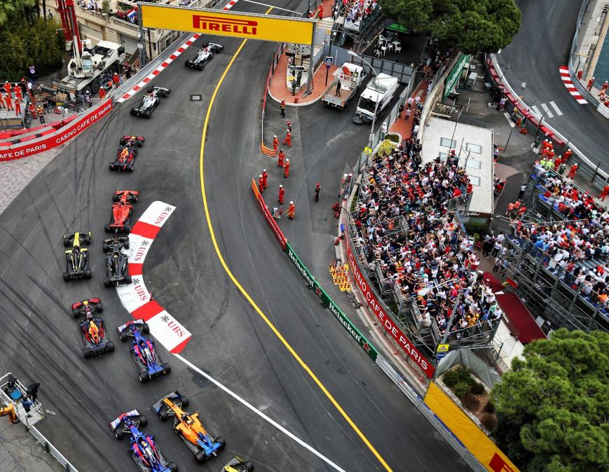 Salida GP Mónaco 2019
