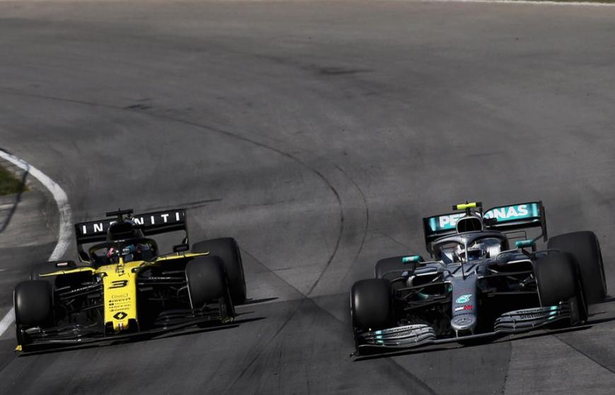 Ricciardo y Bottas. GP Canadá 2019
