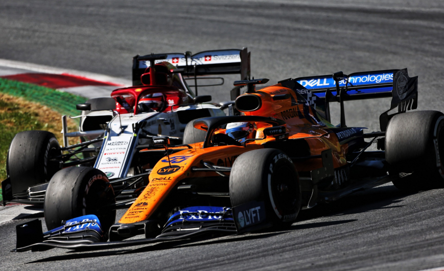Sainz y Raikkonen. GP Austria 2019