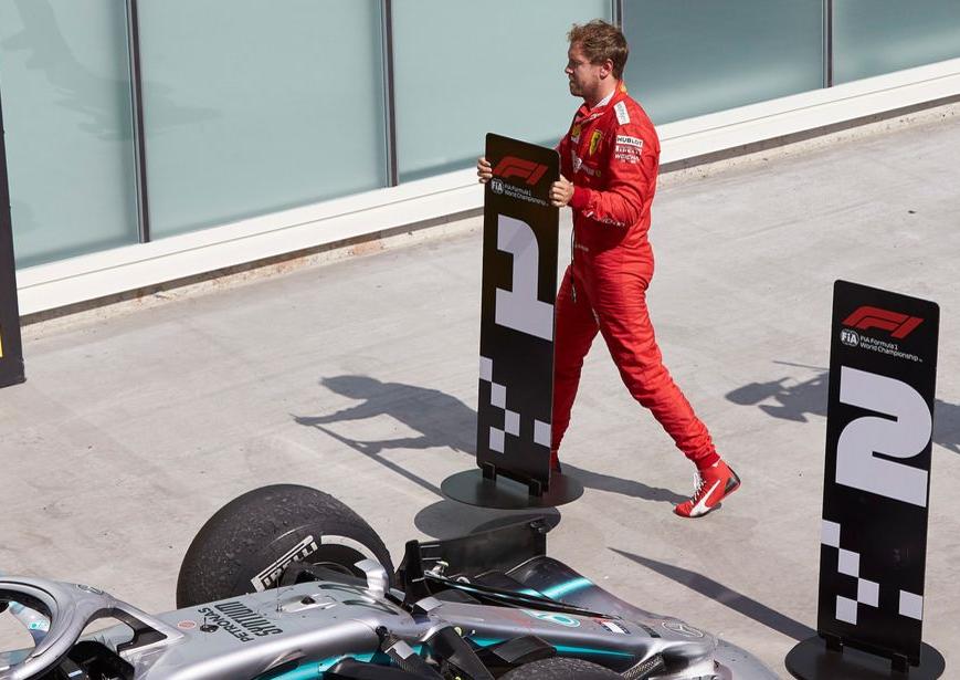 Vettel cambia los carteles del podio. GP Canadá 2019