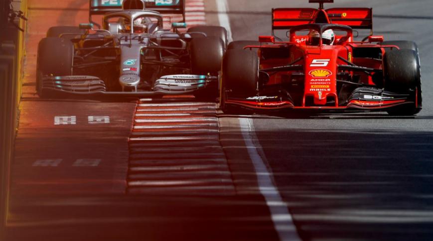 Vettel y Hamilton. GP Canadá 2019