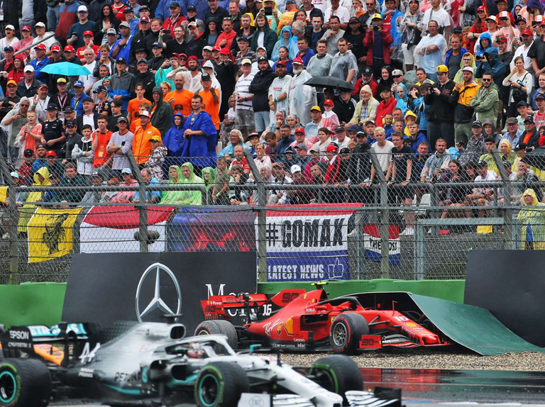 Leclerc choca. GP Alemania 2019