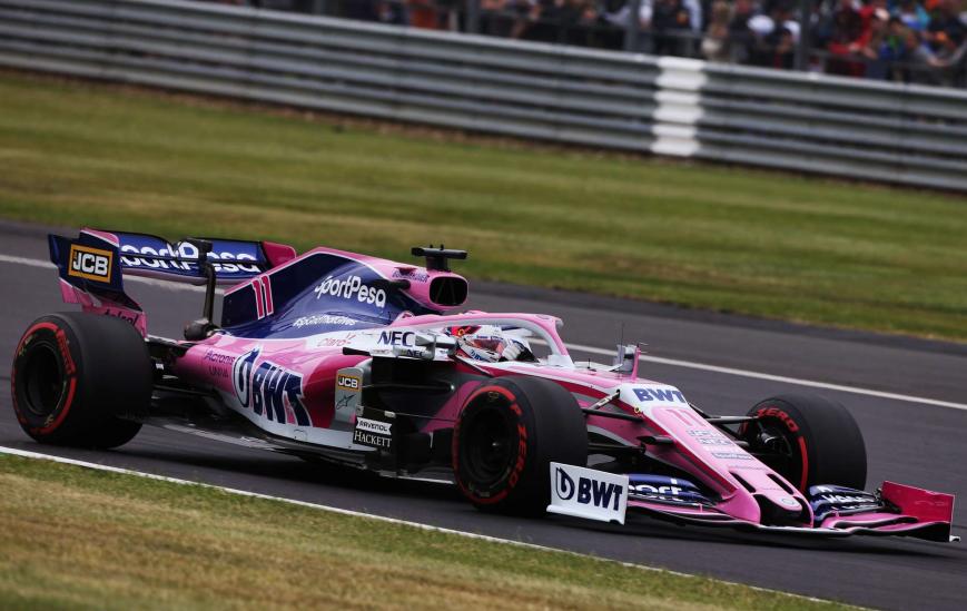 Pérez. Calificación GP Gran Bretaña 2019