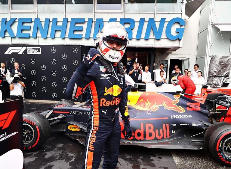 Verstappen logra la victoria. GP de Alemania 2019