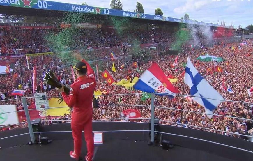 Leclerc logra la victoria. GP Italia 2019