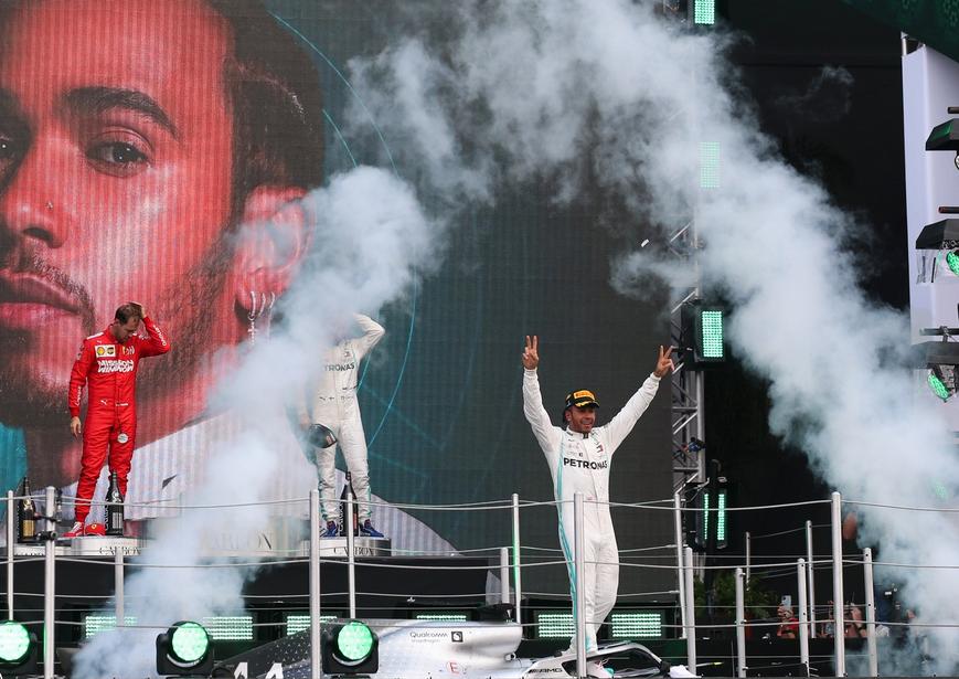Hamilton logra la victoria. GP México 2019