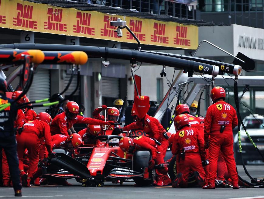 Pit Stop de Vettel. GP México 2019