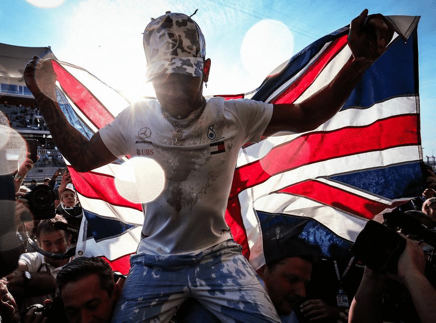 Hamilton celebra su 6º Campeonato. GP EE.UU. 2019