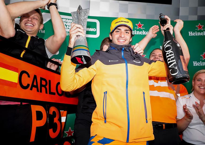 Sainz finaliza 3º. GP Brasil 2019