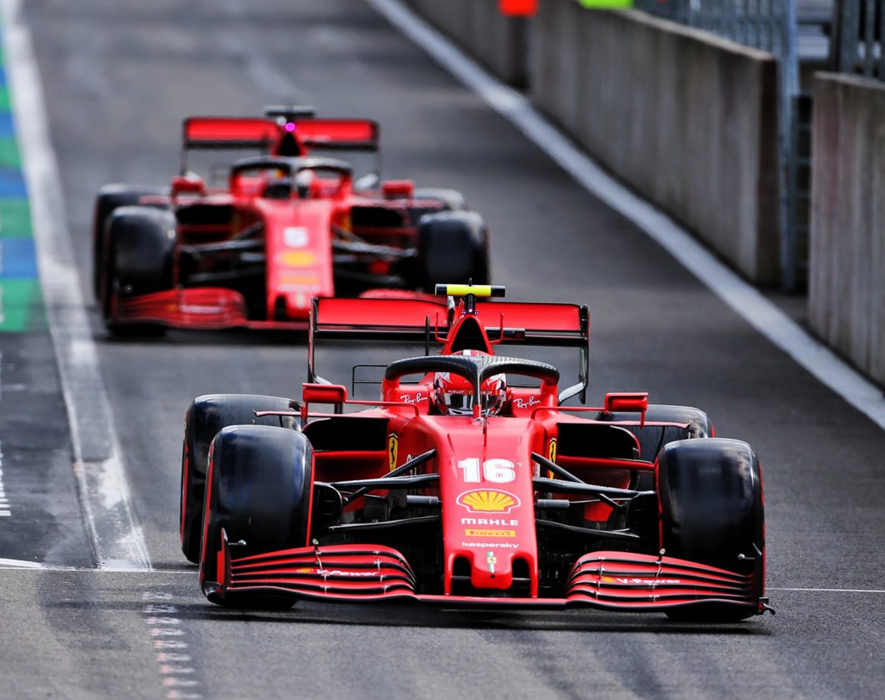 Ferrari. Calificación GP Bélgica 2020