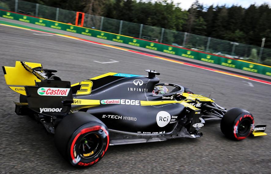 Ricciardo. Calificación GP Bélgica 2020